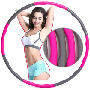 DE Hula Hoop Reifen 8 Segmente Abnehmbarer Hoola Hoops FitnessSport Bauchtraner