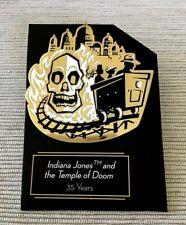 Disney Indiana Jones Temple of Doom 35 Years 2019 Original D23 Gold Member Pin