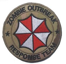 """Resident Evil ZOMBIE OUTBREAK Response Team Camo Hook & Loop Embr 3"""" Patch"""