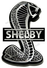 "AC SHELBY COBRA DIGITALLY CUT OUT VINYL STICKER. 6"" X 2"" OVERALL SIZE."