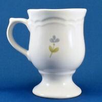 Pfaltzgraff Garland Pedestal Mug 10 oz White with Blue Flowers Stoneware