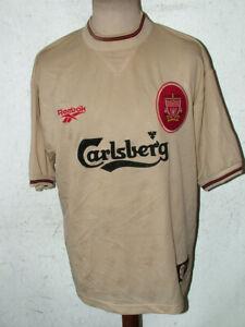 Liverpool FC 1996 1997 Away Carlsberg Reebok Football Shirt 42/44inch Ch