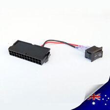 1 x 24-Pin Female ATX / EPS PSU Jump Starter Bridge With Power Switch  (P017)