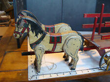 scarce early Vintage Wooden HORSE DRAWN CART, S. A. SMITH
