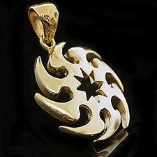 NINJA CYCLONE THROWING STAR 24k GOLD Layered Charm Pendant + LIFETIME GUARANTEE