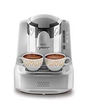 Arzum OKKA Mokka-Maschine Kaffeemaschine WEIß Silber + Türkischer Kaffee Gratis