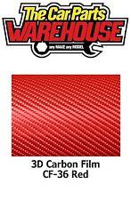 Rojo Premium Calidad Easyfit 3D De Fibra De Carbono Envuelva Vinilo Libre De Burbujas 30cm X 100cm
