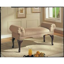 Charmant Upholstered Bench Seat Bed Room Living Foyer Hall Way Entry Backless Sofa  Wood