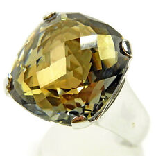SWAROVSKI ring Silver Yellow Woman unisex Authentic Used L1523