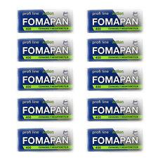 10 Rolls x  FOMAPAN 400 Profi Line Action 120 Medium Format  B&W Film  by FOMA