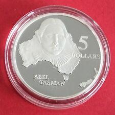 Australia 1993 ABEL Tasman $5 ARGENTO PROOF-CAPOLAVORI IN ARGENTO