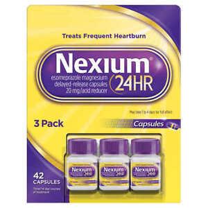 Nexium 24HR Acid Reducer Esomeprazole Magnesium 20mg Delayed-Release Capsules
