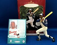Hallmark Keepsake Ornament HANK AARON 1997 At the Ballpark + Trading card NEW