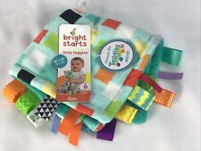 Bright Starts Little Taggies 12 x 12 Aqua Blue Lovey Baby Security NEW