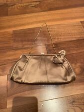 Gold Satin Handbag Bag Pouch Clutch Party Accessories Small Black Tie