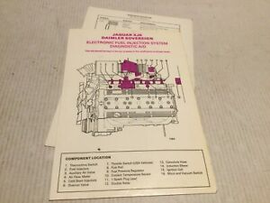 Jaguar Daimler Series 3  Injection System Diagnostic Booklet And Capacity Chart