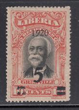 "Liberia # 179 MINT Italic ""9"" In 1920"