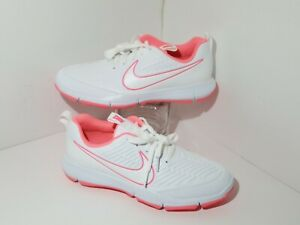 Nike Explorer 2 Women's Golf Shoes White & Pink Spikeless Size 8 - AA1846-100