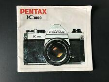 Vintage Pentax K1000 35mm Film Slr Camera - User Instruction Manual