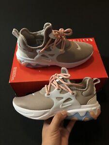 "Nike React Presto ""Coral Stardust"" White Coral CD9015-201 Women's Size 7.5-8"
