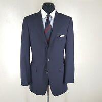 BROOKS BROTHERS  Blue Blazer 3 Btn Center Vent 4 Season Wool 40R Fit-38R- 39 Reg