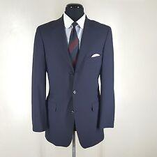 BROOKS BROTHERS  Blue Blazer 3 Btn Center Vent 4 Season Wool 40R Fit-38- 39 Reg
