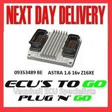 VAUXHALL/OPEL ECU ASTRA ECU 1.6 Plug N Play MOTORE CODICE Z16XE 09353489 BE