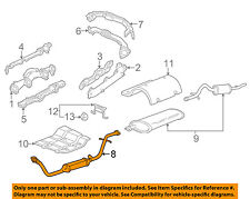 GM OEM-Exhaust System-Catalytic Converter & Pipe 10340796