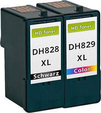 2x XXL TINTE PATRONEN DH828 DH829 CH883 CH884 für Dell 966 968 A966 A968 SET