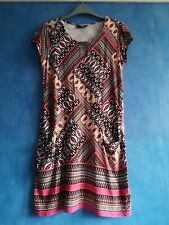 Wallis Ladies Boho Aztec Print Stretchy Tunic T-Shirt Shift Dress Size S UK 8-10