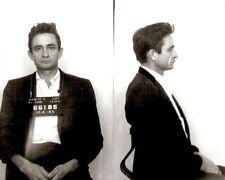 Johnny Cash Photo D'identité Judiciaire Photo 10x8 Photo