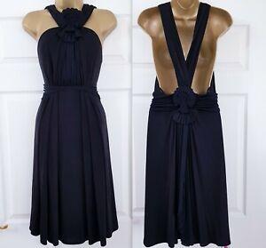 NEW Temperley London 100% Silk Black Goddess Dress ZOLIA Stretch SZ UK 12 US 8