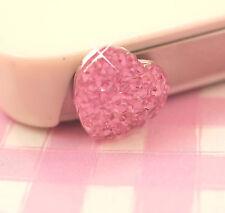Cute Pink Sparkle Heart UNIVERSAL Headphone Dust Plug Kawaii Kitsch - UK SELLER