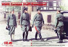 WW II GERMAN STAFF PERSONNEL / OFFICERS #35611 1/35 ICM
