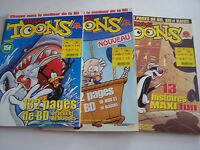 3 BD MAXI TOONS , JEUX ET BLAGUES , N° 5 . 6 ET 8 . PETIT PRIX .