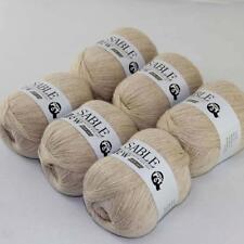 6Ballsx50g Pure Sable Cashmere Hand Knitwear Wool Shawls Soft Crochet Yarn 15