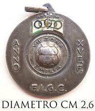 2459) Med Fascismo CONI Federazione Italiana Giuoco Calcio VII Zona Emilia A. XV