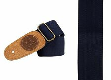 Blu cotone classico FOLK JAZZ Acustico Elettrico Chitarra Cinturino in pelle scamosciata testa