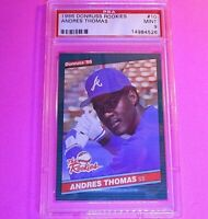 1986 Donruss Rookies #10 Andres Thomas RC Graded PSA 9 MINT Rookie,  SET BREAK