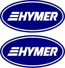 HYMER OVAL CARAVAN MOTORHOME STICKERS DECAL CHOICE OF COLOURS #005