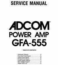 ADCOM GFA-555 Schematic Diagram Service Manual Schaltplan Schematique