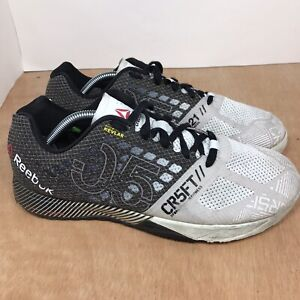 Reebok Crossfit Shoes Kevlar CR5FT Nano Men's Size 10.5 White Training Gym