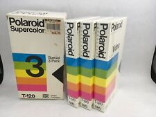 Polaroid T120 Superior Color Blank VHS Tape 3 Pack 246 Min New Old Stock