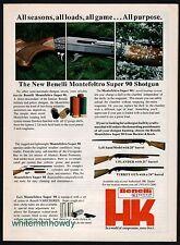 1988 BENELLI Montefeltro Super 90 Shotgun Heckler & Koch PRINT AD