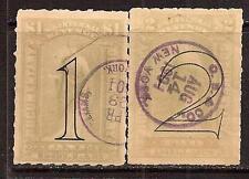USA 1900 REVENUE SC # R184-R185 USED