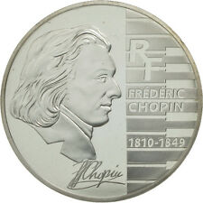 [#462474] France, 1-1/2 Euro, Chopin, PROOF 2005, MS(65-70), Silver, KM:2027