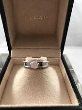Bulgari B.ZERO1 solitaire ring 18 kt white gold .51 F Color IF