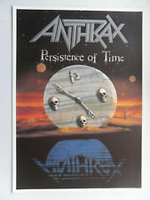 ANTHRAX PERSISTENCE OF TIME poster dimension environ 61 x 86 cm