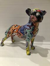 More details for graffiti art staffordshire staffy bull terrier ornament figurine gift