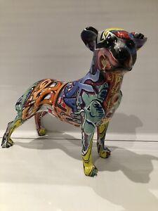 Graffiti Art Staffordshire Staffy Bull Terrier Ornament Figurine Gift